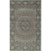 Safavieh Handmade Heritage Timeless Traditional Blue/ Grey Wool Rug (4' x 6')