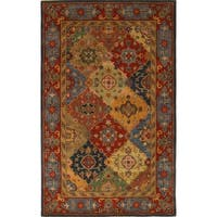 Safavieh Handmade Heritage Timeless Traditional Red Wool Rug - 4' x 6'