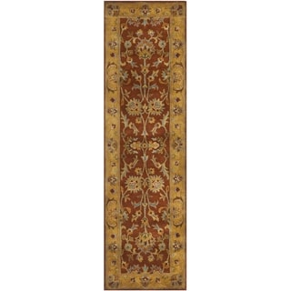 Safavieh Handmade Heritage Timeless Traditional Rust/ Beige Wool Rug (2'3 x 10')