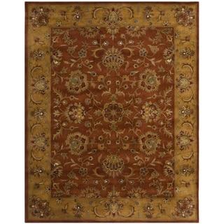 Safavieh Handmade Heritage Timeless Traditional Rust/ Beige Wool Rug (9' x 12')