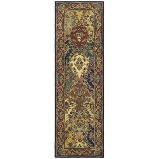 Safavieh Handmade Heritage Timeless Traditional Multicolor/ Burgundy Wool Rug (2'3 x 22')