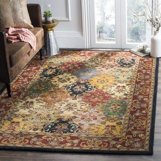 Safavieh Handmade Heritage Timeless Traditional Multicolor/ Burgundy Wool Rug (8' x 10')