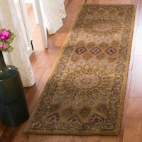 Safavieh Handmade Heritage Timeless Traditional Light Brown/ Grey Wool Rug - 2'3 x 6'