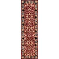 Safavieh Handmade Heritage Timeless Traditional Red/ Navy Wool Rug - 2'3 x 22'