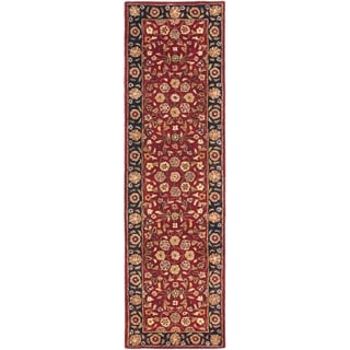 Safavieh Handmade Heritage Timeless Traditional Red/ Navy Wool Rug (2'3 x 16')