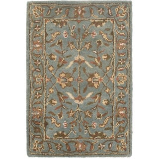 Safavieh Handmade Heritage Timeless Traditional Blue Wool Rug (2'3 x 4')
