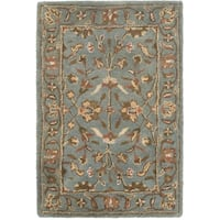 Safavieh Handmade Heritage Timeless Traditional Blue Wool Rug - 2'3 x 4'