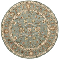 Safavieh Handmade Heritage Timeless Traditional Blue Wool Rug - 8' Round