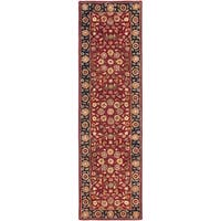 Safavieh Handmade Heritage Timeless Traditional Red/ Navy Wool Rug - 2'3 x 6'
