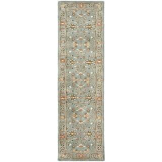 Safavieh Handmade Heritage Timeless Traditional Blue Wool Rug (2'3 x 12')