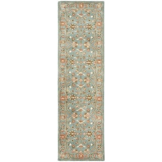 Safavieh Handmade Heritage Timeless Traditional Blue Wool Rug (2'3 x 16')