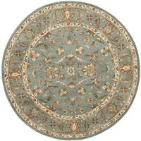 Safavieh Handmade Heritage Timeless Traditional Blue Wool Rug - 4' Round