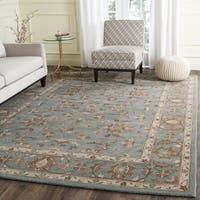Safavieh Handmade Heritage Timeless Traditional Blue Wool Rug - 8' x 8' Square