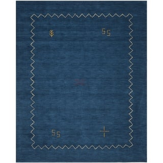 Safavieh Handmade Himalayan Gabeh Blue Wool Rug (8'9 x 12')