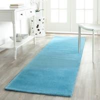 Safavieh Handmade Himalaya Solid Turquoise Blue Wool Runner Rug - 2'3 x 10'