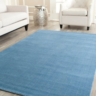 Safavieh Handmade Himalaya Solid Blue Wool Area Rug (9' x 12')