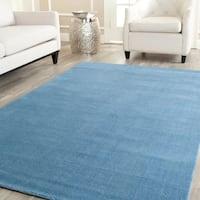 Safavieh Handmade Himalaya Solid Blue Wool Area Rug - 9' x 12'