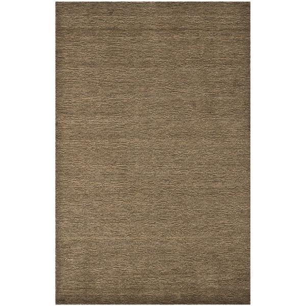 Safavieh Handmade Himalaya Solid Brown Wool Area Rug (8' 9 x 12')