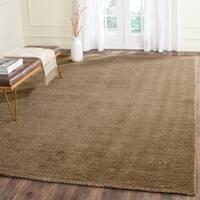 Safavieh Handmade Himalaya Solid Brown Wool Area Rug - 8'9 x 12'