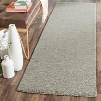 """Safavieh Handmade Himalaya Solid Grey Wool Runner Rug - 2'3"""" x 10'"""