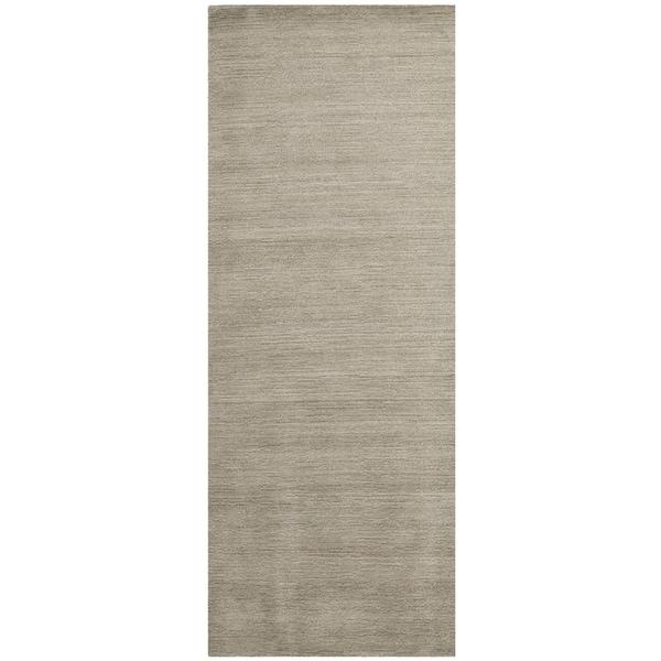 Safavieh Handmade Himalaya Solid Grey Wool Runner Rug - 2'3 x 12'
