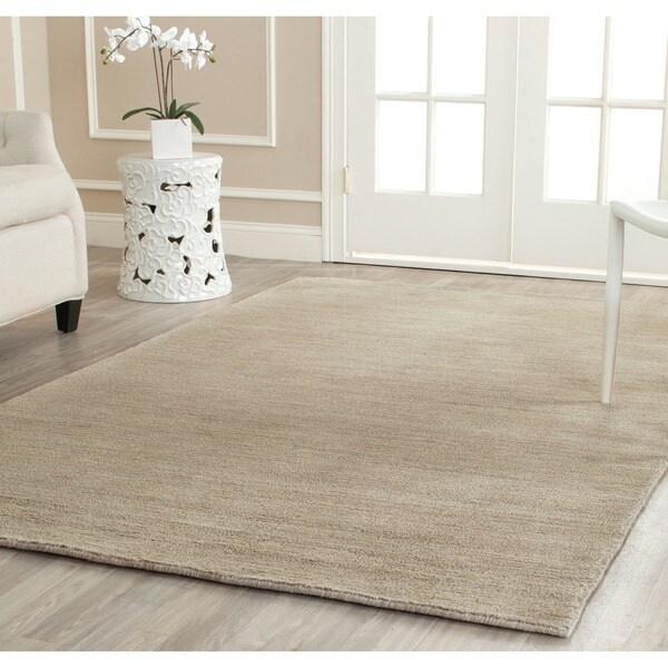 Safavieh Handmade Himalaya Solid Grey Wool Area Rug (8'9 x 12')