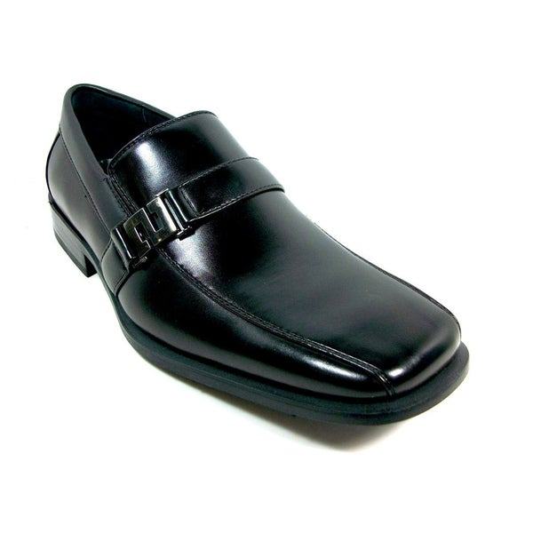 Delli Aldo Men's Square Toe Buckle Vamp Loafers