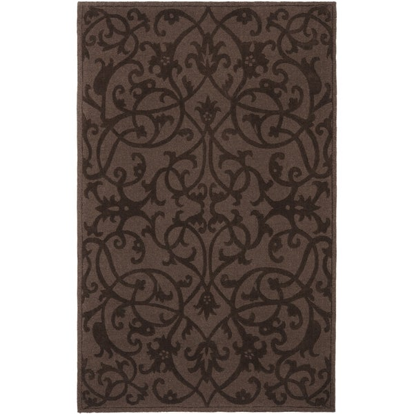 Safavieh Handmade Irongate Brown New Zealand Wool Rug - 8'3 x 11'