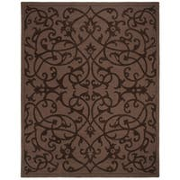 "Safavieh Handmade Irongate Brown New Zealand Wool Rug - 8'-3"" x 11'"