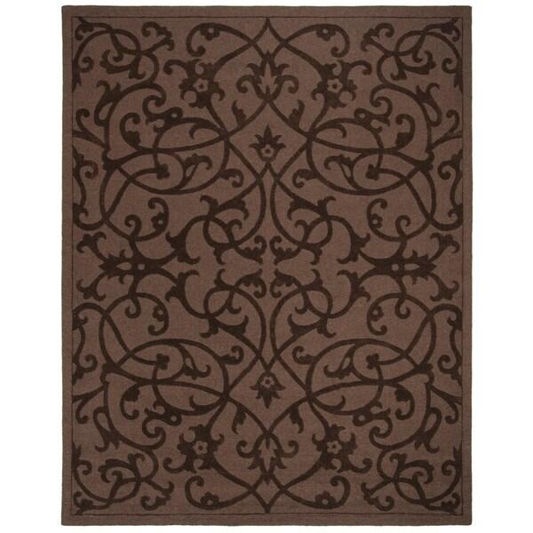 """Safavieh Handmade Irongate Brown New Zealand Wool Rug - 8'-3"""" x 11'"""