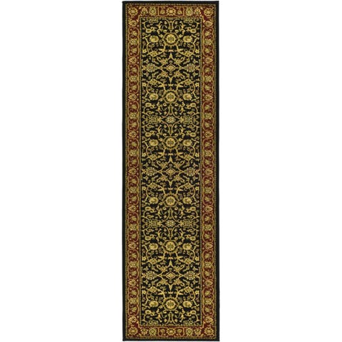 "Safavieh Lyndhurst Traditional Oriental Black/ Red Rug - 2'3"" x 22'"