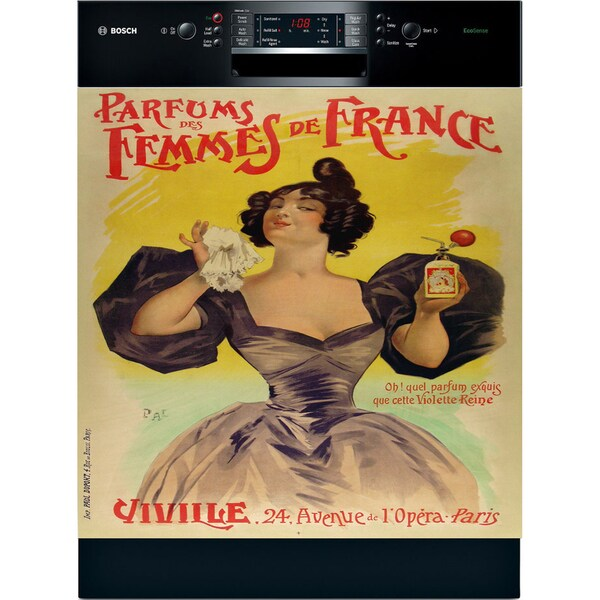 Appliance Art 'Parisian Perfume' Vintage Dishwasher Cover