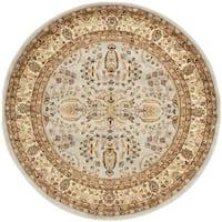 Safavieh Lyndhurst Traditional Oriental Grey/ Beige Rug (7' Round)