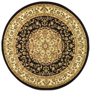 Safavieh Lyndhurst Traditional Oriental Black/ Ivory Rug - 7' Round