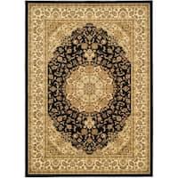 Safavieh Lyndhurst Traditional Oriental Black/ Ivory Rug - 8'11 x 12'