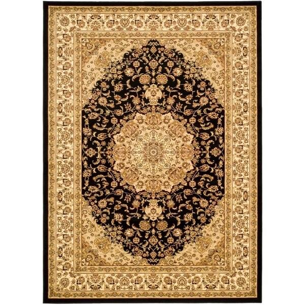 Safavieh Lyndhurst Traditional Oriental Black/ Ivory Rug - 9' x 12'
