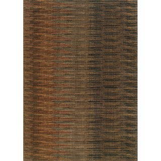 Indoor Brown/ Rust Area Rug (6'7 x 9'6)