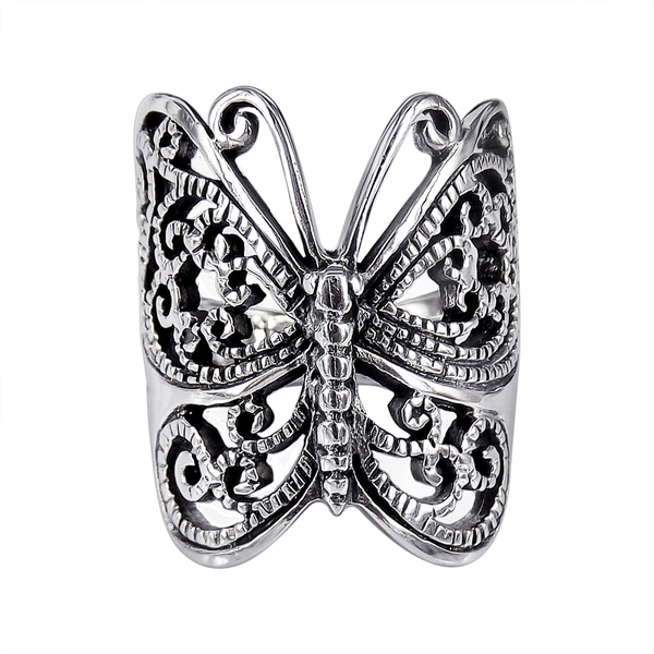 Sterling Silver Wrap Around Butterfly Ring (Thailand)