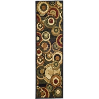 Safavieh Lyndhurst Contemporary Black/ Green Rug (2'3 x 22')