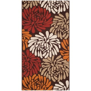 Safavieh Veranda Piled Chocolate Brown/ Terracotta Rug (2'7 x 5')