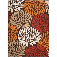 "Safavieh Veranda Piled Chocolate Brown/ Terracotta Rug - 8' x 11'2"""
