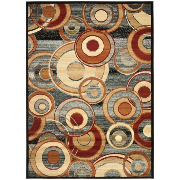 Safavieh Lyndhurst Contemporary Grey/ Multicolored Rug (8'11 x 12')
