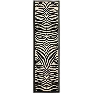 Safavieh Lyndhurst Contemporary Zebra Black/ White Rug (2'3 x 10')