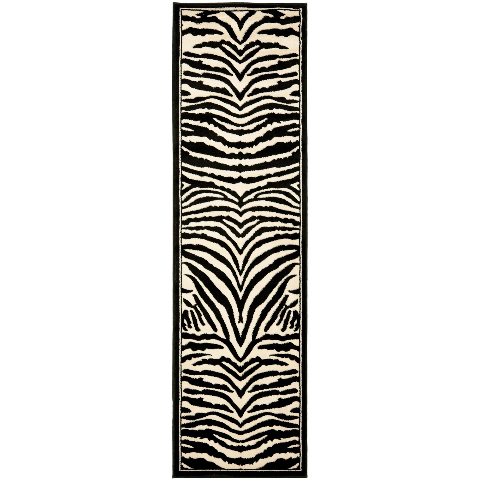 Safavieh Lyndhurst Zebra White/ Black Rug (23 X 22)