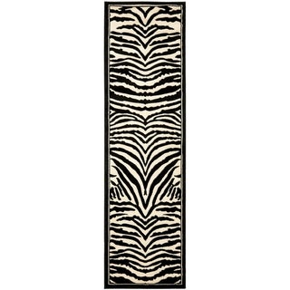 Safavieh Lyndhurst Contemporary Zebra Black/ White Rug (2'3 x 22')