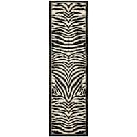 "Safavieh Lyndhurst Contemporary Zebra Black/ Ivory Rug - 2'3"" x 22'"