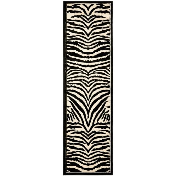 Safavieh Lyndhurst Zebra White/ Black Rug (23 x 22)   15127586