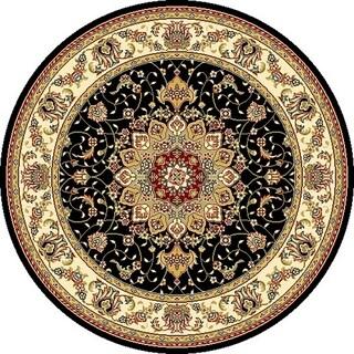 Safavieh Lyndhurst Traditional Oriental Black/ Ivory Rug (4' Round)