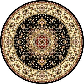 Safavieh Lyndhurst Traditional Oriental Black/ Ivory Rug (4u0027 Round)