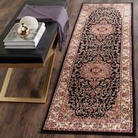 Safavieh Lyndhurst Traditional Oriental Black/ Ivory Rug - 4' x 4' Round